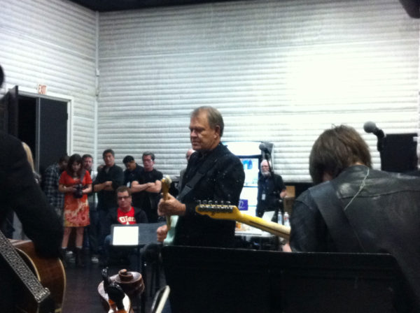 2012 Grammys with Glen Campbell in rehearsal for Center Staging