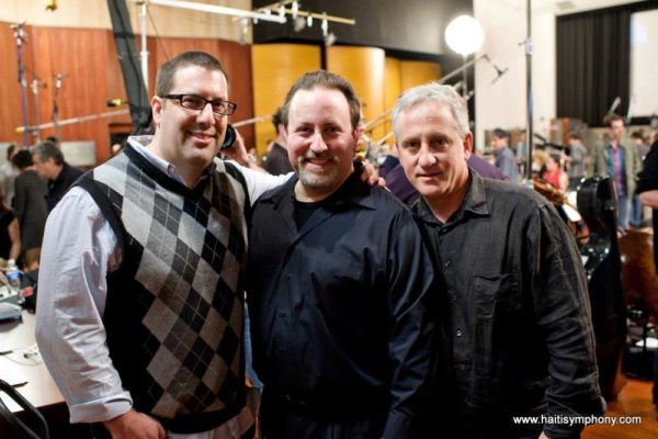 Chris Lennertz, Lucas Richman, and David Low for the Haiti Recording Project at WB