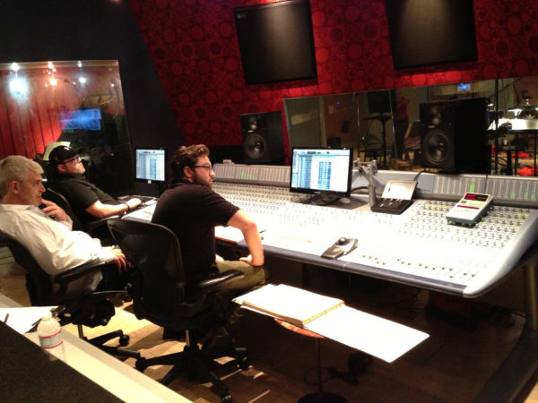 Composer Noah Sorota with Filmmakers for Grace Incident at Firehouse Studios