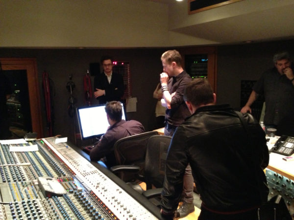 In the booth with OneRepublic's Ryan Tedder at Capitol Records