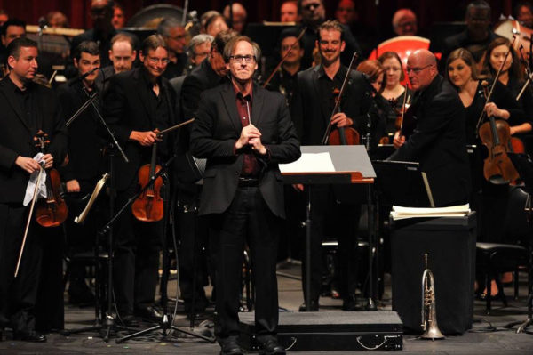 jeff Beal conducting House of Cards live at Royce Hall