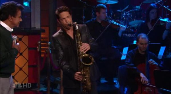 Johnny Mathis and Dave Koz on the Tonight Show