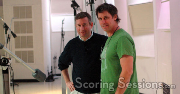 Mark with composer John Swihart at East West studios