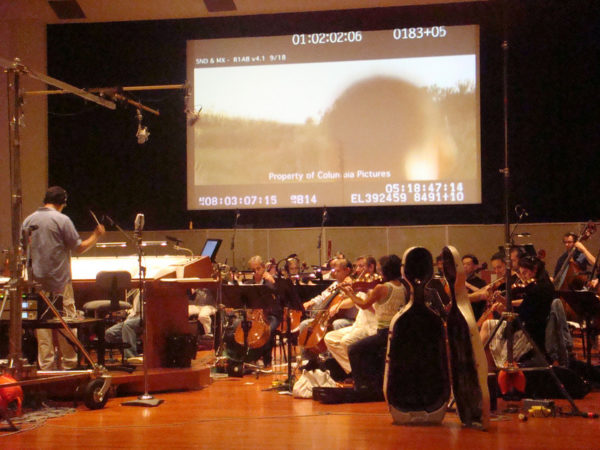 Seven Pounds scoring session with Angelo Millo and Gerardo Giusti conducting at WB Studios